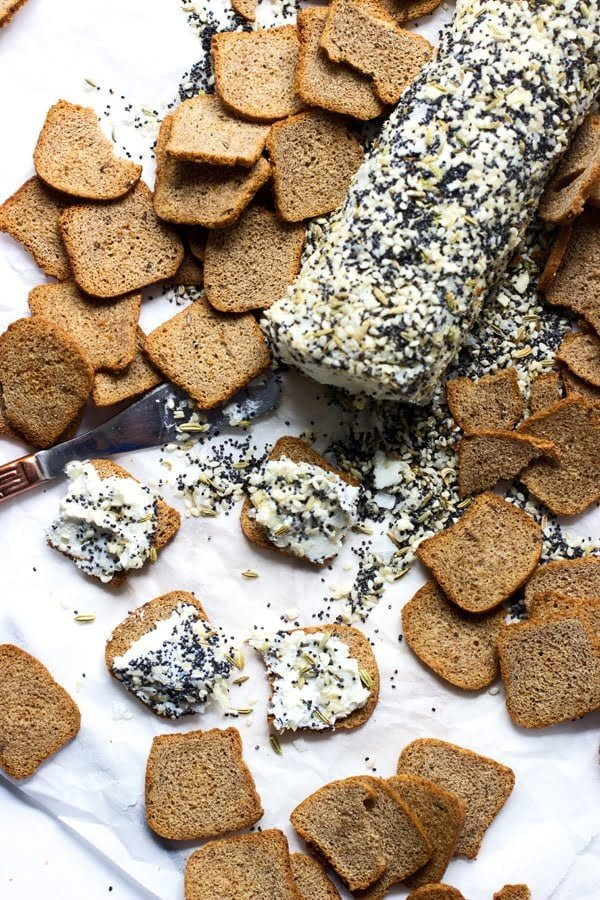 Everything Bagel Goat Cheese Log 2