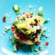 Macadamia Nut Crab Cakes with Tropical Fruit Salsa