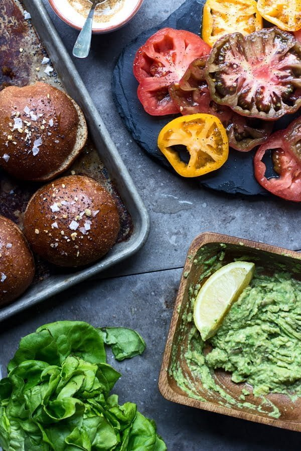 Blackened Salmon Sandwiches with Heirloom Tomatoes and Smashed Avocado 6