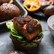 Blackened Salmon Sandwiches with Heirloom Tomatoes and Smashed Avocado 8