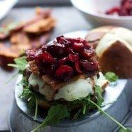 Cherry, Fontina and Bacon Turkey Burgers