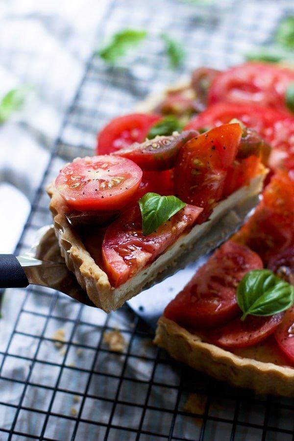 Ricotta and Heirloom Tomato Tart