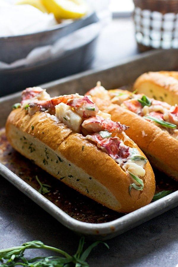 Tarragon and Lemon Lobster Rolls with Garlic Bread Hoagies 6