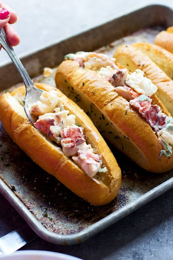 Tarragon and Lemon Lobster Rolls with Garlic Bread Hoagies 7
