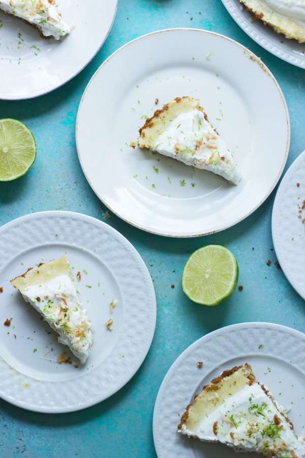 Coconut Key Lime Tart With Biscoff Cookie Crust