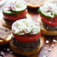 Greek Salad Burgers