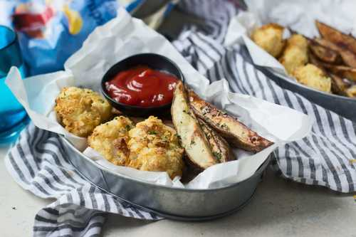 Baked salt and vinegar fish and chips cooking for keeps for Fish and chips vinegar