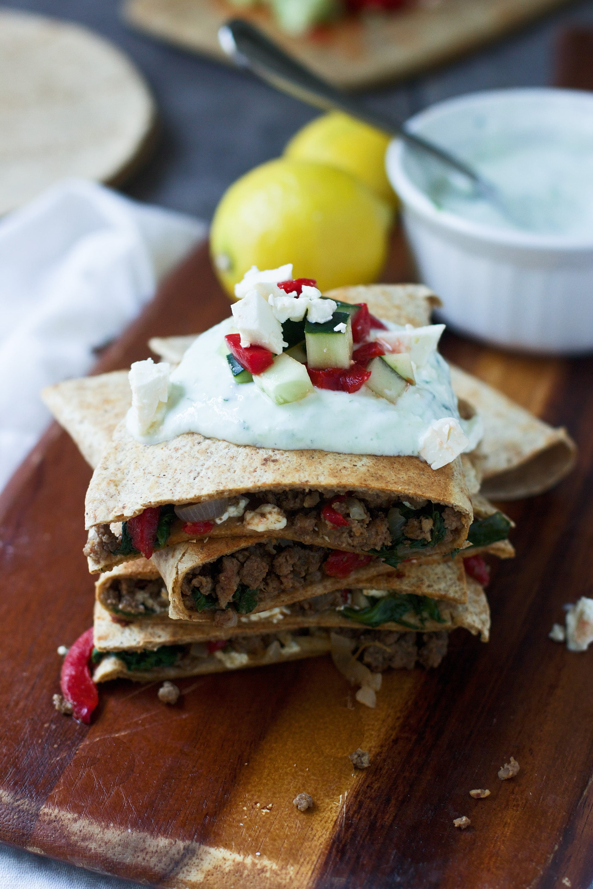 Greek Quesadillas 3