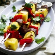 Marinated Sirloin, Pineapple and Red Pepper Skewers 6
