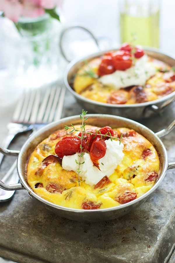 Roasted Tomato, Italian Sausage and Ricotta Frittatas for Two ...