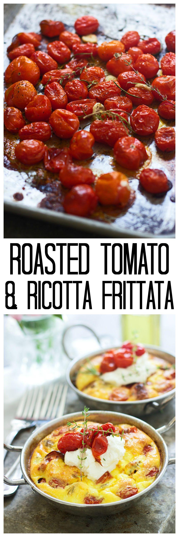 Roasted Tomato, Ricotta and Italian Sausage Frittata