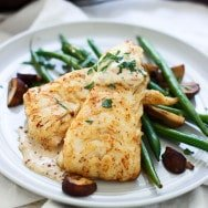 Brown Butter Seared Haddock with Mustard Cream Sauce