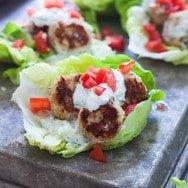 Chicken Gyro Lettuce Wraps