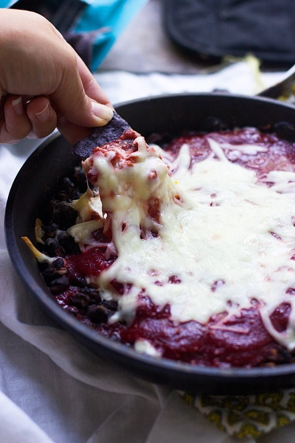 Chipotle Raspberry and Black Bean Dip