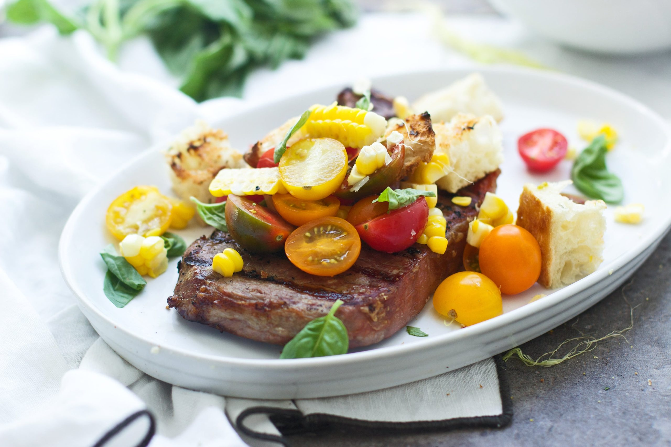 Grilled Strip Steak with Summer Panzanella 7