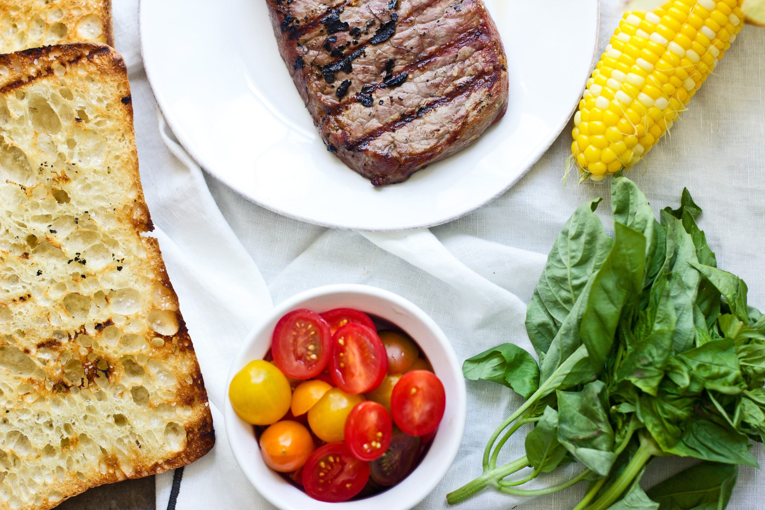 Grilled Strip Steak with Summer Panzanella