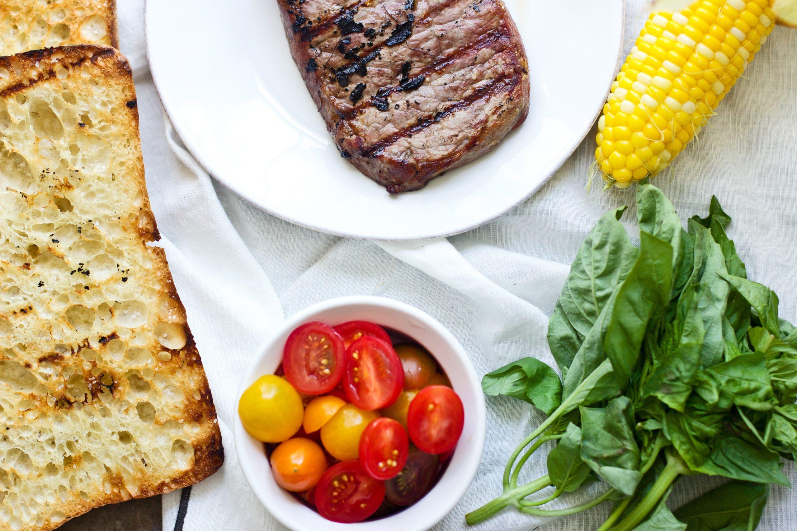 Grilled Strip Steak with Summer Panzanella