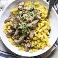 Lightened-Up Beef Stroganoff