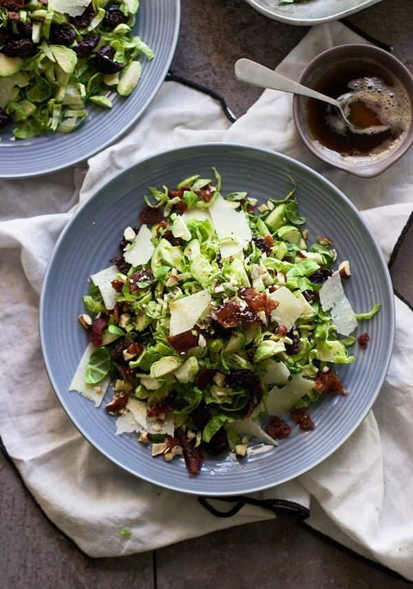 Brussels Sprout, Candied Bacon and Cherry Salad with Brown Butter Vinaigrette 2