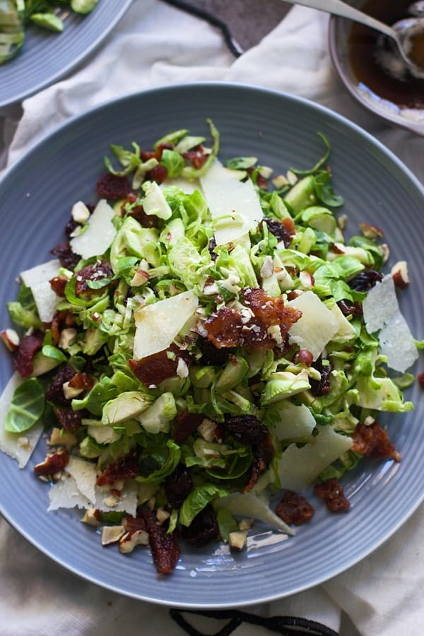 Brussels Sprout, Candied Bacon and Cherry Salad with Brown Butter Vinaigrette 8