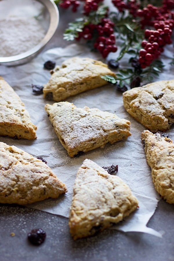 Brown Butter, Dried Cherry and Walnut Scones