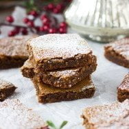 Brown Butter Gingerbread Blondies