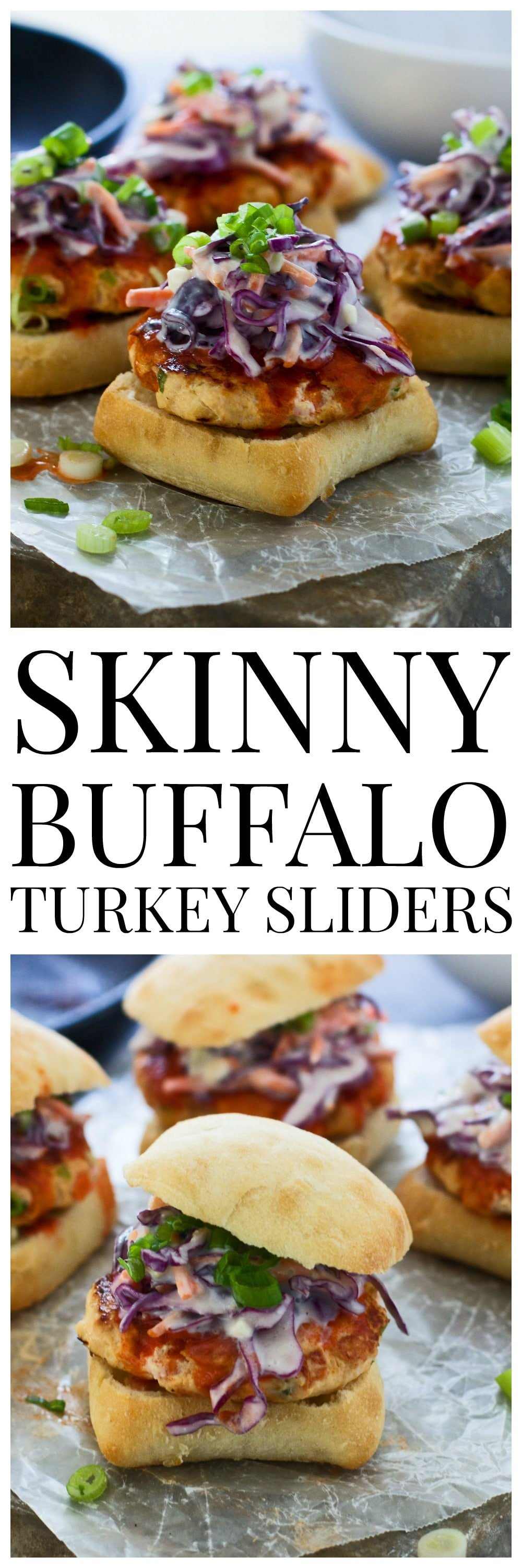 Skinny Buffalo Turkey Sliders - So much flavor, and super healthy!