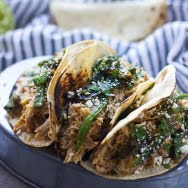 Slow-Cooker Poblano and Honey Lime Chicken Tacos