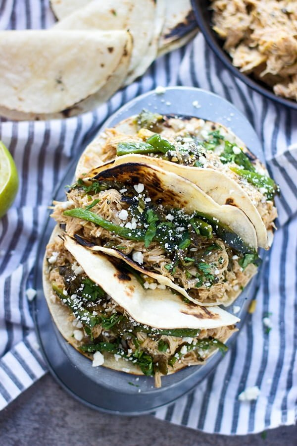 Slow-Cooker Poblano and Honey Lime Chicken Tacos 3