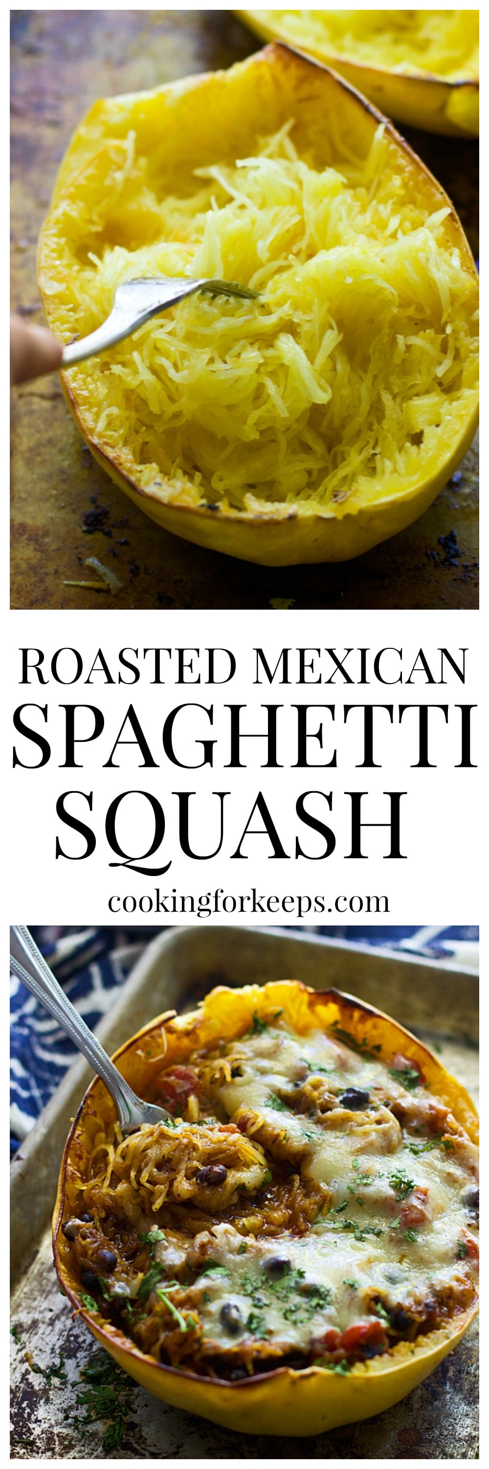 Roasted Mexican Spaghetti Squash
