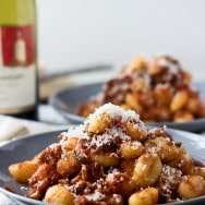 Easy Italian Sausage and Mushroom Ragu with Gnocchi
