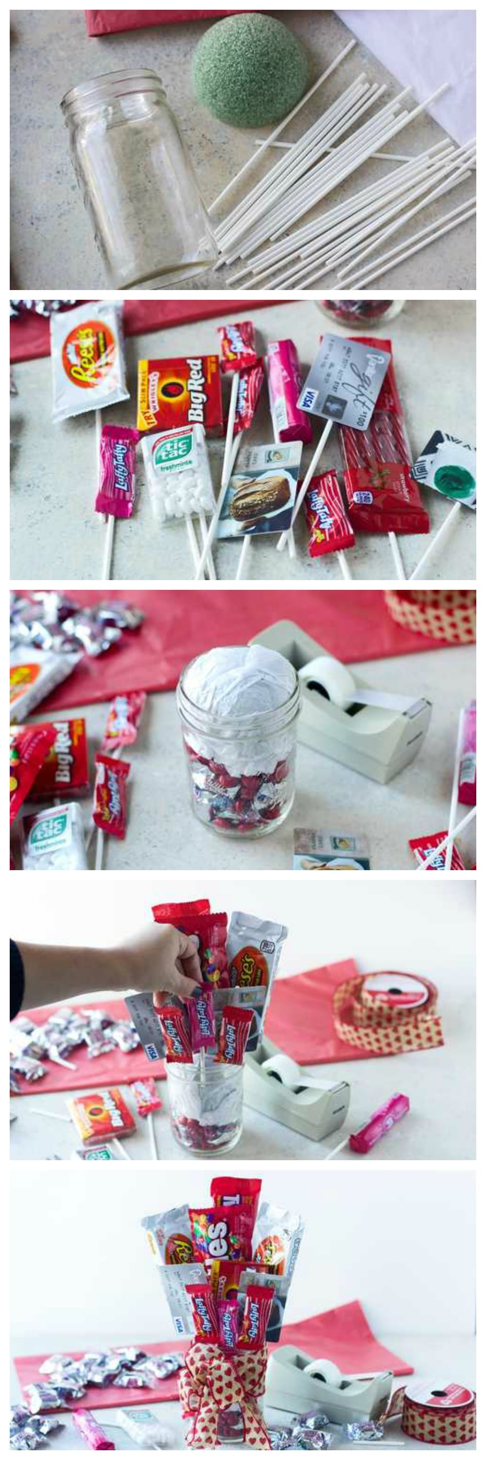 How To Make A Candy Bar Bouquet