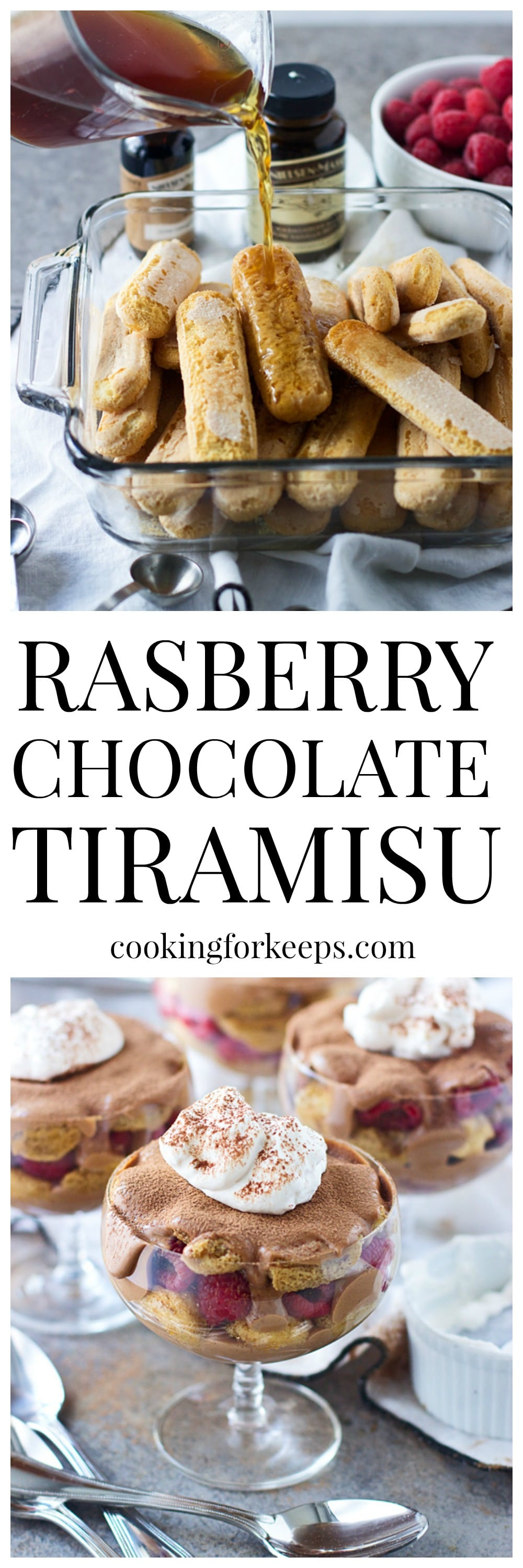 Raspberry Chocolate Tiramisu