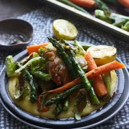 Roast Spring Veggies with Creamy Polenta and Lemon Brown Butter 3