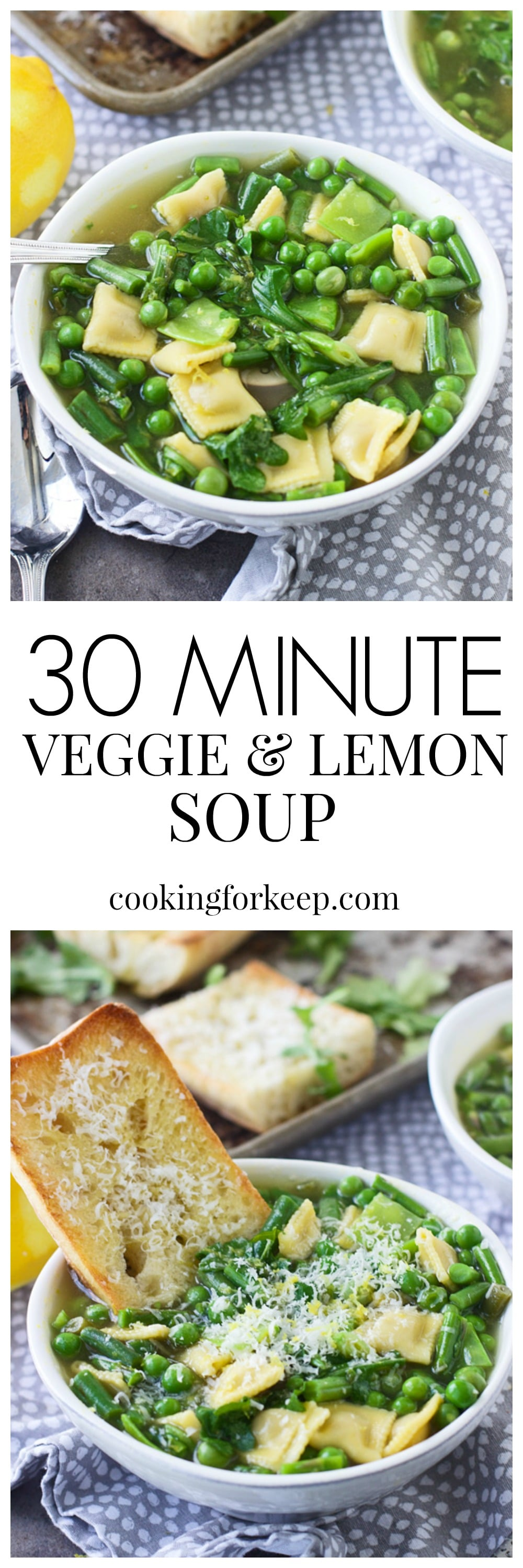 Thirty Minute Spring Veggie and Lemon Soup