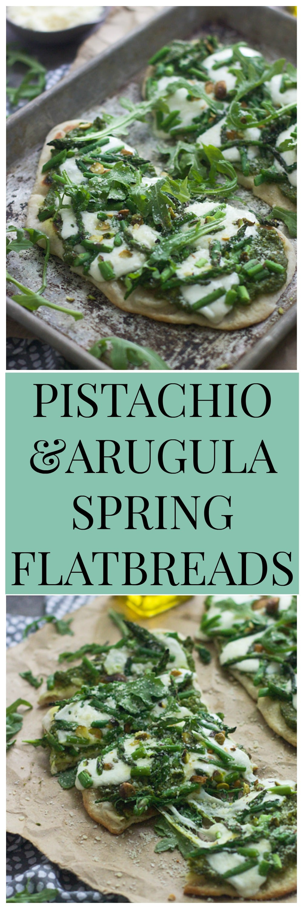 Pistachio and Arugula Pesto Spring Flatbreads