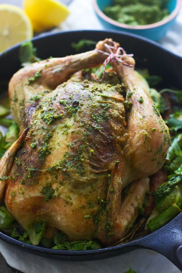 Roasted Chicken with Pistachio and Arugula Pesto - Cooking ...