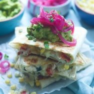 Corn, Crab, and Lobster Quesadillas
