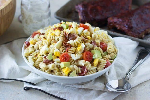 Creamy Cobb Pasta Salad - Cooking for Keeps