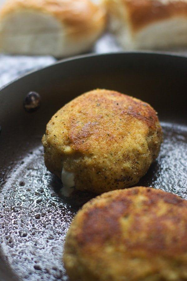 Mozzarella Stick Chicken Burgers 6