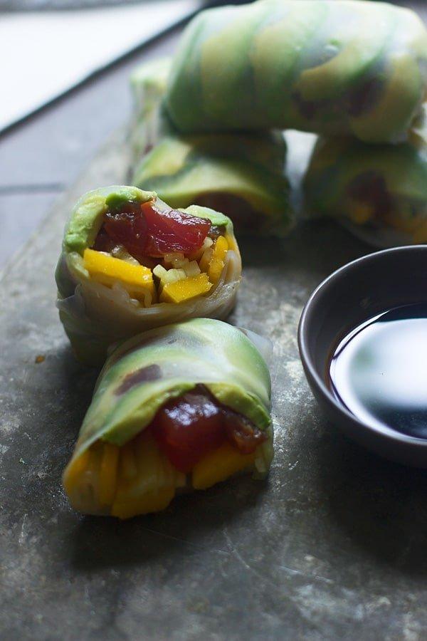 Spicy Tuna and Mango Spring Rolls 2