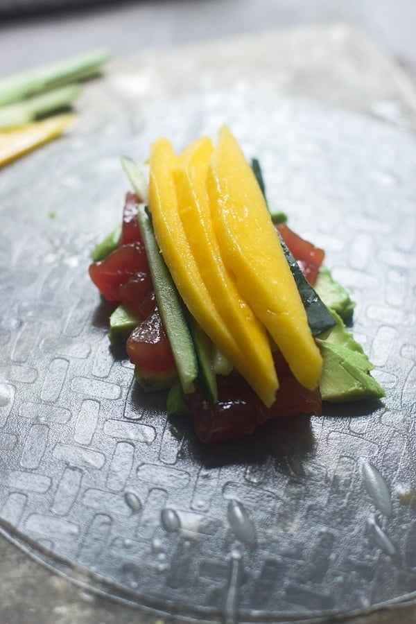 Spicy Tuna and Mango Spring Rolls 5