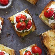 Grilled Baguette with Homemade Ricotto, Burst Cherry Tomatoes, and Chimichurri 3