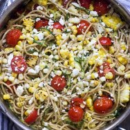 Grilled Summer Zucchini and Whole-Wheat Spaghetti