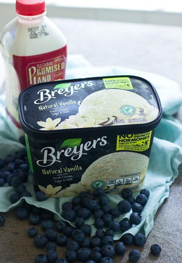 Blueberry Butter Cookie Milkshakes