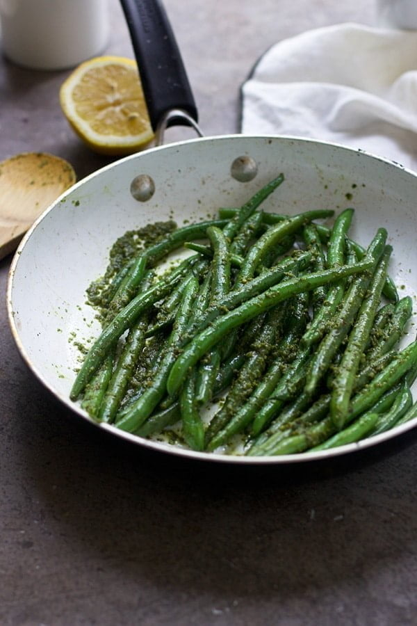 Brown Butter Pesto Green Beans 4