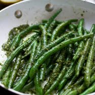 Sautéed Green Beans with Brown Butter Pesto
