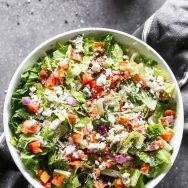 Chopped Tuscan Salad (Made from the Salad Bar!)