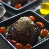 Seared Filets with Blue Cheese Brown Butter and Roasted Tomatoes 3
