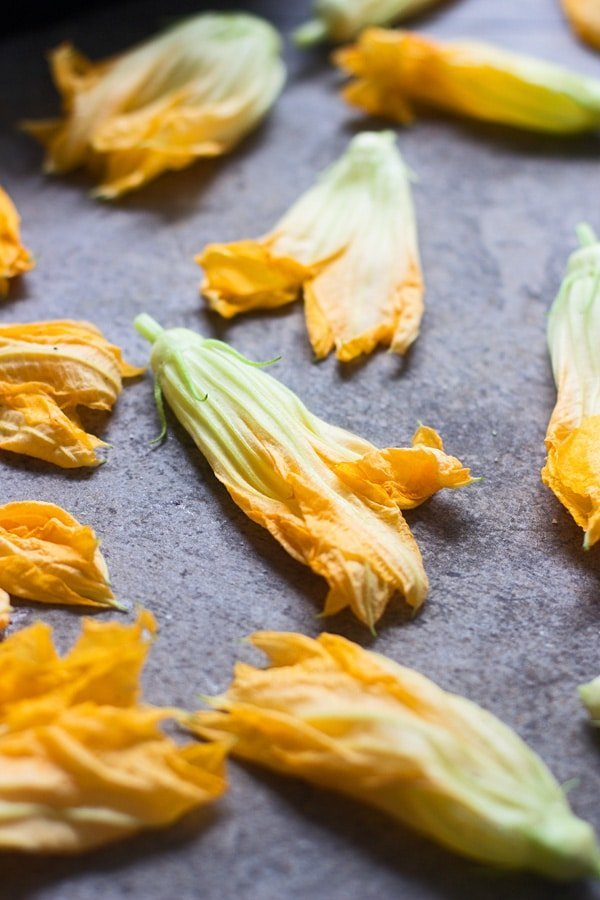 Zucchini Flower Pizza with Brown Butter Ricotta 3